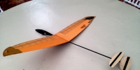 Nano Micro Hand Launch RC glider 2019 design prototype ll