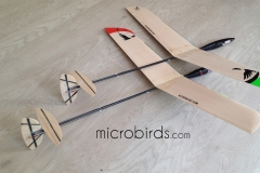 Micro-plane-DLG-HLG-RC-Radio-Controlled-Glider-orange-black