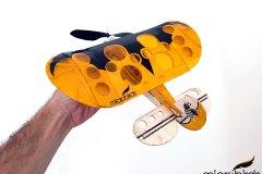 orange-micro-lazy-bee-electric-rc-airplane-kit-microbirds-radio-control-airplane-fly-toy-hobby