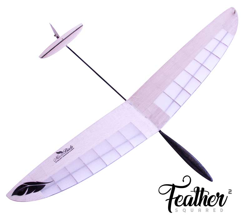 Feather ultralight radio control DLG RC Glider micro mini squared microbirds