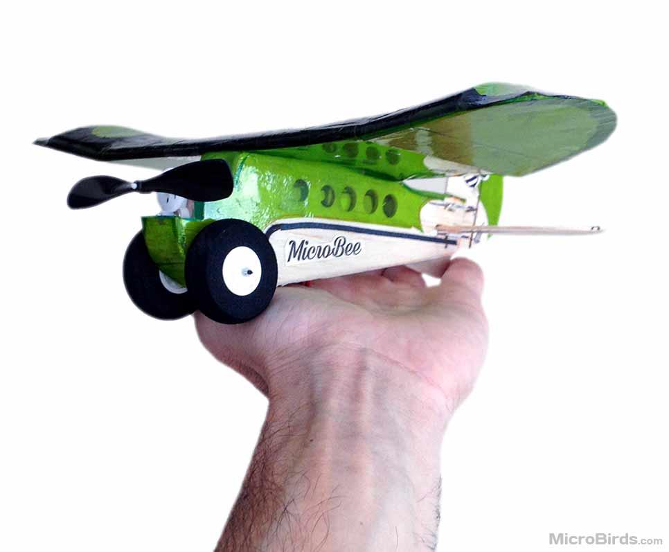 micro lazy bee rc plane small radio contrl mini DIY airplane